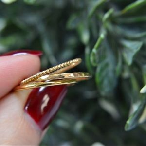 14K Gold Filled Stacking Ring Set